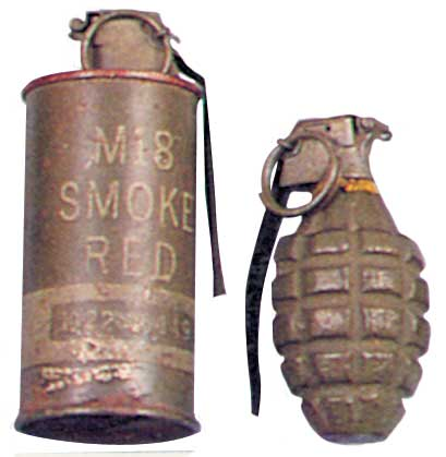 Grenades défensive MKII A1 et fumigène M16