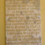 Alençon, plaque de la 2e DB