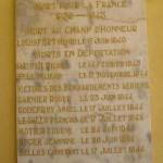 Alençon, plaque victimes civiles