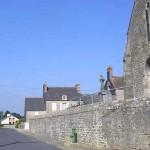 Amfreville (Manche), la route de Gourbesville