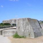 Asnelles, un abri en béton pour canon antichar
