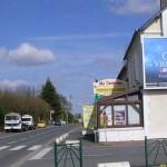 Auberville, la D513 vers Villers-sur-Mer