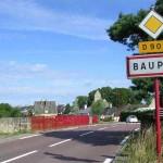Baupte, l'entrée est de la ville