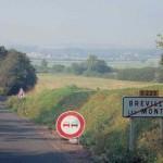 Bréville-les-Monts, la route de Ranville