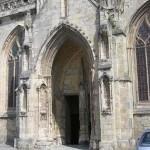Carentan, le porche de l'église Notre-Dame