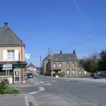Cerisy-la-Salle, la place de la mairie