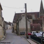 Chambois, l'entrée sud de la ville par la Dive
