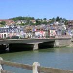Deauville, le pont des Belges sur la Touques