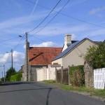 Hémevez, l'entrée du bourg