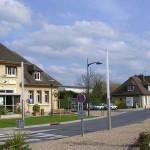 Merville-Franceville, le centre ville