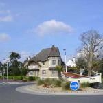 Merville-Franceville, la route de Cabourg