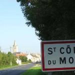 Saint-Côme-du-Mont, l'entrée de la ville