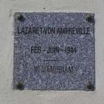Amfreville, plaque lazarett