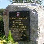 Amfreville, stèle verger Timmes