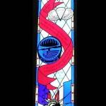 Angoville-au-Plain, vitraux parachutistes américains