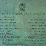 Asnelles, plaque 147th Field Regiment RA
