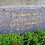Avranches, plaque du 7 juin 1944