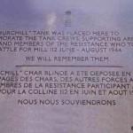 Baron-sur-Odon, plaque char Churchill