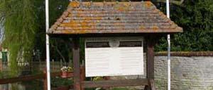 Bavent, monument lettrine