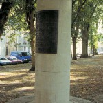 Bayeux, borne du 14 juin 1944