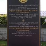 Bayeux, stèle 2nd Battalion Essex Regiment