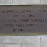 Bazenville, plaque Pierre Clostermann