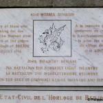 Berjou, plaque 43th Infantry Division