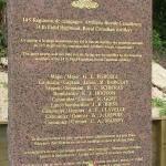 Bernières-sur-Mer, stèle 14th Field Regiment RCA