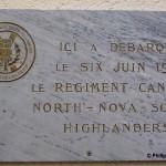 Bernières-sur-Mer, plaque North Nova Scotia Highlanders
