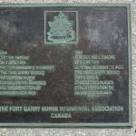 Bernières-sur-Mer, plaque The Fort Garry Horse