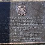 Bernières-sur-Mer, plaque Stormont Dundas and Glengarry Highlanders