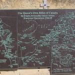 Bernières-sur-Mer, plaque The Queen's Own Rifles of Canada
