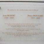 Carpiquet, plaque Hébert et Boudard