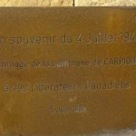Carpiquet, plaque soldats canadiens