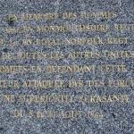 Chênedollé, stèle The Royal Norfolk Regiment et The Monmouthshire Regiment