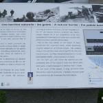 """Colleville-sur-Mer, panneau """"les galets"""""""