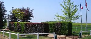 Estrées-la-Campagne, monument lettrine