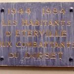 Eterville, plaque Dorset Regiment