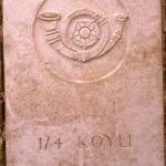 Fontenay-le-Pesnel, plaque 1/4th Battalion King's Own Yorkshire LI