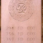 Fontenay-le-Pesnel, plaque RE 294th 756th 757th Field Companies 289th Field Park Company