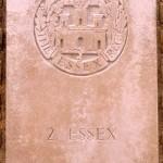 Fontenay-le-Pesnel, plaque 2nd Battalion Essex Regiment