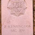Fontenay-le-Pesnel, plaque 2nd Battalion Kensington Regiment