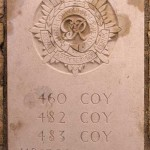 Fontenay-le-Pesnel, plaque RASC 460th 482th 483th Companies 118th Divisional Company