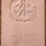 Fontenay-le-Pesnel, plaque 49th Recce Regiment