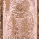 Fontenay-le-Pesnel, plaque 69th 74th 143th 185th Field Regiments
