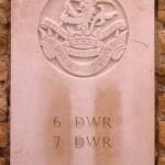 Fontenay-le-Pesnel, plaque 6th 7th Battalions Duke of Wellington