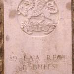 Fontenay-le-Pesnel, plaque 89th Light Anti Aircraft Regiment The Buffs