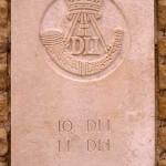 Fontenay-le-Pesnel, plaque 10th 11th Battalions Durham Light Infantry