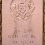 Fontenay-le-Pesnel, plaque 49th Ordnance Field Park 49th Mobile Laundry and Bath Unit