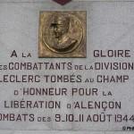 Fyé, monument 2e Division blindée Leclerc